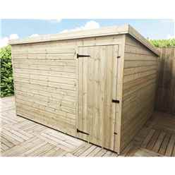 INSTALLED 10FT x 7FT Windowless Pressure Treated Tongue & Groove Pent Shed + Single Door INCLUDES INSTALLATION
