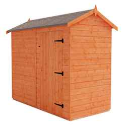 8ft x 4ft Windowless Tongue and Groove Shed (12mm Tongue and Groove Floor and Apex Roof)