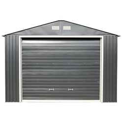12ft x 20ft Value - Metal Garage - Anthracite Grey (3.72m x 6.04m)