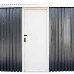 12ft x 32ft Value - Metal Garage - Anthracite Grey (3.72m x 9.65m)
