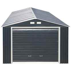 12ft x 38ft Value - Metal Garage - Anthracite Grey (3.72m x 11.45m)