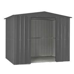 8ft x 3ft Premier EasyFix – Apex – Metal Shed -Anthracite Grey (2.45m x 0.92m)