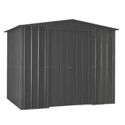 8ft x 6ft Premier EasyFix – Apex – Metal Shed -Anthracite Grey (2.45m x 1.85m)