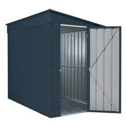 5ft x 8ft Anthracite Grey Lean To Metal Shed (1.44m x 2.34m)