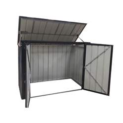 7ft x 3ft Triple Bin Store Anthracite Grey (2.33m x 0.95m)