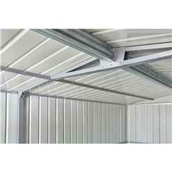 10ft x 15ft Premier EasyFix – Apex – Metal Garage -Anthracite Grey (3.07m x 4.64m)