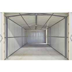 10ft x 19ft Premier EasyFix - Double Hinged - Metal Garage - Anthracite Grey (3.07m x 5.88m)