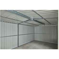 **PRE-ORDER ONLY - BACK IN STOCK EARLY JULY** 19ft x 10ft Anthracite Grey Metal Workshop (2.95m x 5.78m)