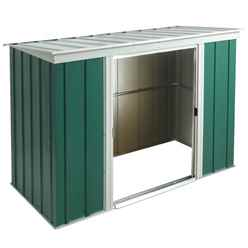 8ft x 4ft Rowlinson Metal Pent Shed (2540mm x 1190mm) INCLUDES FLOOR