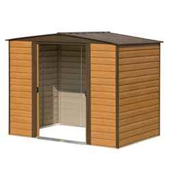 INSTALLED 8ft x 6ft Woodvale Metal Sheds (2530mm x 1810mm) INCLUDES FLOOR AND INSTALLATION