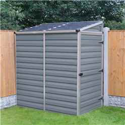6ft x 4ft (1.75m x 1.17m) Single Door Pent Plastic Shed with Skylight Roofing