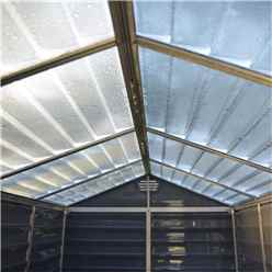 12ft x 6ft (3.78m x 1.85m) Double Door Apex Plastic Shed with Skylight Roofing