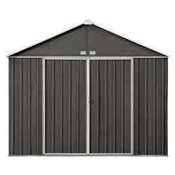 8ft x 10ft (2.18m x 2.99m) Double Door Galvanised Steel Metal Shed