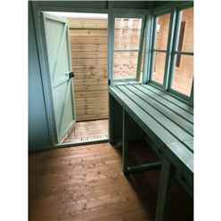 6ft x 6ft (1.83m x 1.83m) - Premier Pent Wooden Summerhouse - Potting Shed - 2 Opening Windows - Single Side Door - 12mm T&G Walls - Floor - Roof (Show Site)