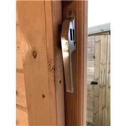 3.0m x 3.0m Premier Reverse Apex Home Office Log Cabin (Single Glazing) - Free Floor & Felt (44mm)