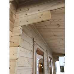 3.0m x 4.2m Premier Reverse Apex Home Office Log Cabin (Single Glazing) - Free Floor & Felt (70mm)