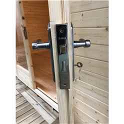 4.2m x 3.6m Premier Reverse Apex Home Office Log Cabin (Single Glazing) - Free Floor & Felt (28mm)