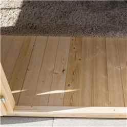 3.4m x 2.1m  Studio Apex Log Cabin - 19mm Wall Thickness