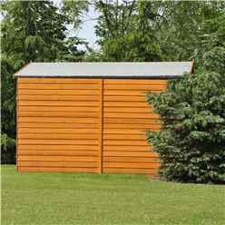 10ft x 10ft Windowless Dip Treated Overlap Apex Wooden Garden Shed with Double Doors (11mm Solid OSB Floor)
