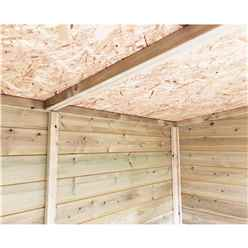 10FT x 8FT PREMIER PRESSURE TREATED TONGUE & GROOVE APEX SHED WITH 4 WINDOWS + HIGHER EAVES & RIDGE HEIGHT + DOUBLE DOORS + SAFETY TOUGHENED GLASS