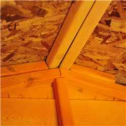 INSTALLED 12ft x 6ft  (3.59m x 1.82m) - Dip Treated Overlap - Apex Garden Shed - Windowless - Double Doors - 10mm Solid OSB Floor
