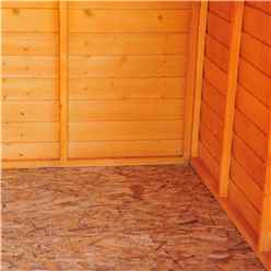 INSTALLED 12ft x 6ft  (3.59m x 1.82m) - Dip Treated Overlap - Apex Garden Shed - Windowless - Double Doors - 10mm Solid OSB Floor INSTALLATION INCLUDED