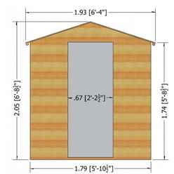 7ft x 5ft (2.04m x 1.61m) - Stowe Tongue & Groove - Apex Garden Shed / Workshop - 1 Opening Window - Single Door - 12mm Tongue and Groove Floor