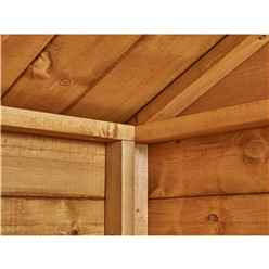 6ft x 4ft Premium Tongue and Groove Apex Shed - Single Door - Windowless - 12mm Tongue and Groove Floor and Roof
