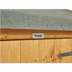 18ft x 4ft Premium Tongue and Groove Apex Shed - Double Doors - Windowess - 12mm Tongue and Groove Floor and Roof