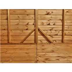 18ft x 4ft Premium Tongue and Groove Pent Shed - Single Door - Windowless - 12mm Tongue and Groove Floor and Roof