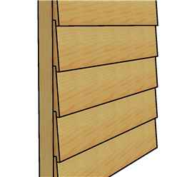 10ft x 10ft (3.02m x 3.15m) - Premier Reverse Wooden Studio Summerhouse - 2 Windows - Double Doors - 20 mm Walls