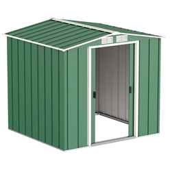 6ft x 6ft Value Apex Metal Shed - Green (2.01m x 1.82m)