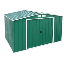 10ft x 8ft Value Apex Metal Shed - Green (3.22m x 2.42m)