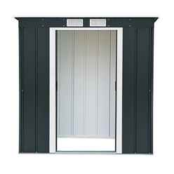 6ft x 4ft Value Pent Metal Shed - Anthracite Grey (2.03m x 1.24m)