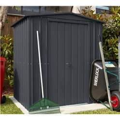 6ft x 5ft Premier EasyFix – Apex – Metal Shed -Anthracite Grey (1.84m x 1.54m)