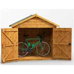 6ft x 3ft  Premium Tongue and Groove Apex Bike Shed - 12mm Tongue and Groove Floor and Roof