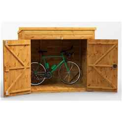 6ft x 4ft  Premium Tongue and Groove Pent Bike Shed - 12mm Tongue and Groove Floor and Roof