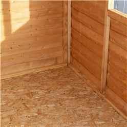 **FLASH REDUCTION** 8ft x 6ft  (2.39m x 1.83m) - Super Value Overlap - Apex Wooden Garden Shed - 2 Windows - Single Door - 10mm Solid OSB Floor - CORE