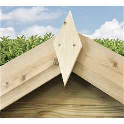 5FT x 4FT **Flash Reduction** Super Saver Windowless Pressure Treated Tongue & Groove Apex Shed + Double Doors + Low Eaves