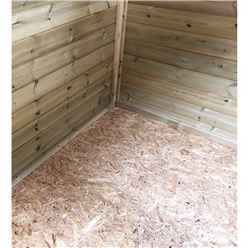 4FT x 5FT **Flash Reduction** Super Saver Windowless Pressure Treated Tongue & Groove Apex Shed + Double Doors + Low Eaves