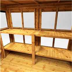 6ft x 4ft Premium Tongue and Groove Pent Potting Shed - Single Door - 8 Windows - 12mm Tongue and Groove Floor and Roof