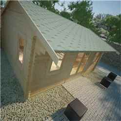 16ft x 14ft Neville 44mm Log Cabin (19mm Tongue and Groove Floor and Roof) (4750x4150)