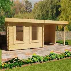16ft x 10ft Yogi 44mm Log Cabin (19mm Tongue and Groove Floor and Roof) (4750x2950)