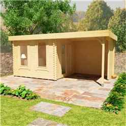 18ft x 10ft Yogi 44mm Log Cabin (19mm Tongue and Groove Floor and Roof) (5350x2950)