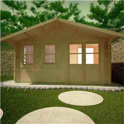 10ft x 16ft Rosco 44mm Log Cabin (19mm Tongue and Groove Floor and Roof) (2950x4750)