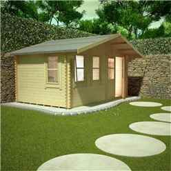10ft x 18ft Rosco 44mm Log Cabin (19mm Tongue and Groove Floor and Roof) (2950x5350)