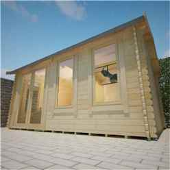 16ft x 12ft Ralph 44mm Log Cabin (19mm Tongue and Groove Floor and Roof) (4750x3550)