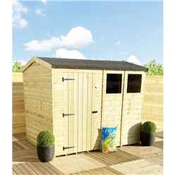 7FT x 4FT **Flash Reduction** REVERSE Super Saver Pressure Treated Tongue & Groove Apex Shed + Single Door + High Eaves (74