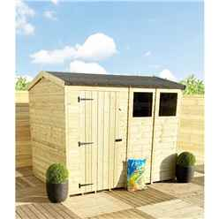 11FT x 4FT **Flash Reduction** REVERSE Super Saver Pressure Treated Tongue And Groove Single Door Apex Shed (High Eaves 74