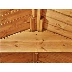 6ft x 4ft Security Tongue and Groove Pent Shed - Double Door - 12mm Tongue and Groove Floor and Roof